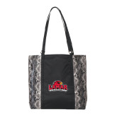 Instincts Snake Print Fashion Tote-Lamar University w/Cardinal Head