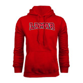 Red Fleece Hood-Lamar