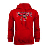 Champion Red Fleece Hood-Lamar w/Cardinal Head