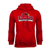 Champion Red Fleece Hood-Baseball