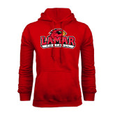 Champion Red Fleece Hood-Football