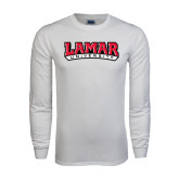 White Long Sleeve T Shirt-Lamar University