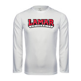 Syntrel Performance White Longsleeve Shirt-Lamar University