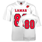 Replica White Adult Football Jersey-#80