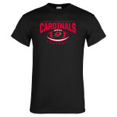 Black T Shirt-Football Arched Over Ball