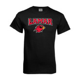 Black T Shirt-Lamar w/Cardinal Head