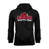 Champion Black Fleece Hood-Lamar University w/Cardinal Head