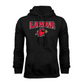 Black Fleece Hood-Lamar w/Cardinal Head
