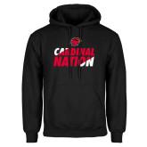 Black Fleece Hood-Cardinal Nation