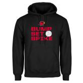Black Fleece Hood-Bump Set Spike