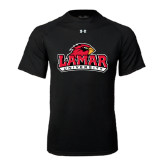 Under Armour Black Tech Tee-Lamar University w/Cardinal Head