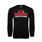 Champion Black Fleece Crew-Lamar University w/Cardinal Head
