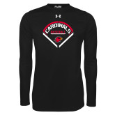 Under Armour Black Long Sleeve Tech Tee-Baseball Geometric Plate