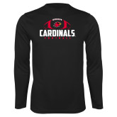 Syntrel Performance Black Longsleeve Shirt-Football Stacked Ball Design