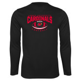 Performance Black Longsleeve Shirt-Football Arched Over Ball