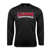 Syntrel Performance Black Longsleeve Shirt-Lamar University