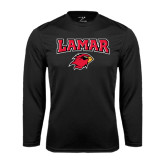 Syntrel Performance Black Longsleeve Shirt-Lamar w/Cardinal Head