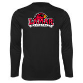 Performance Black Longsleeve Shirt-Primary Mark