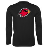 Performance Black Longsleeve Shirt-Cardinal Head