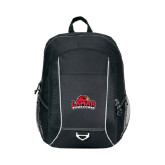 Atlas Black Computer Backpack-Lamar University w/Cardinal Head