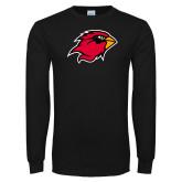 Black Long Sleeve TShirt-Cardinal Head