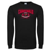 Black Long Sleeve TShirt-Football Arched Over Ball