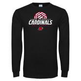 Black Long Sleeve TShirt-Geometric Volleyball Design