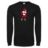 Black Long Sleeve T Shirt-Cardinal Full Body
