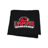 Black Sweatshirt Blanket-Lamar University w/Cardinal Head