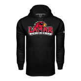 Under Armour Black Performance Sweats Team Hood-Lamar University w/Cardinal Head