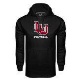 Under Armour Black Performance Sweats Team Hoodie-Football