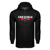 Under Armour Black Performance Sweats Team Hoodie-Football Geometric Design