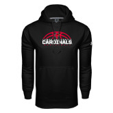 Under Armour Black Performance Sweats Team Hoodie-Half Ball Basketball Design