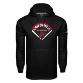 Under Armour Black Performance Sweats Team Hoodie-Baseball Geometric Plate