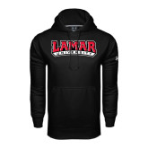 Under Armour Black Performance Sweats Team Hood-Lamar University