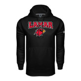 Under Armour Black Performance Sweats Team Hood-Lamar w/Cardinal Head