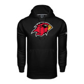 Under Armour Black Performance Sweats Team Hood-Cardinal Head
