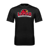 Syntrel Performance Black Tee-Lamar University w/Cardinal Head