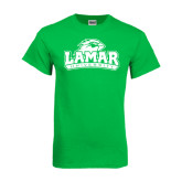 Kelly Green T Shirt-Lamar University w/Cardinal Head