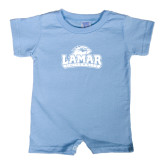 Light Blue Infant Romper-Lamar University w/Cardinal Head