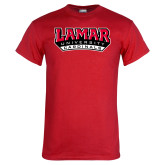 Red T Shirt-Lamar University Cardinal Stacked