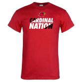 Red T Shirt-Cardinal Nation