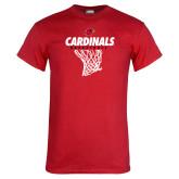 Red T Shirt-Basketball Net Design