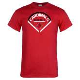 Red T Shirt-Baseball Geometric Plate