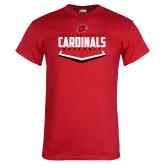 Red T Shirt-Baseball Plate Design