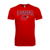 SoftStyle Red T Shirt-Lamar w/Cardinal Head