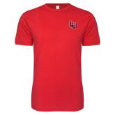 Next Level SoftStyle Red T Shirt-Interlocking LU