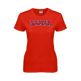 Ladies Red T Shirt-Lamar