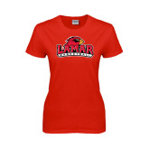 Ladies Red T Shirt-Basketball