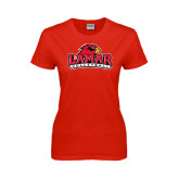 Ladies Red T Shirt-Volleyball